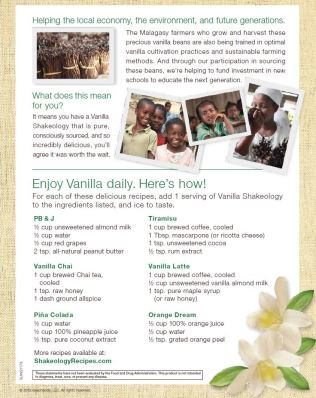 Beachbody - Vanilla Shakeology benefits and recipes