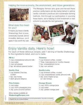 Beachbody - Vanilla Shakeology benefits and recipes
