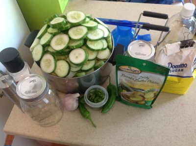 canning cucumbers and green peppers with a pressure cooker